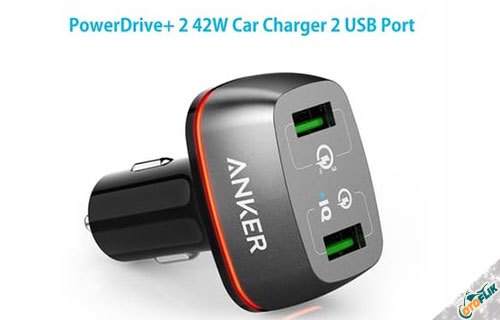 Anker PowerDrive+ 2 Dual USB Car Charger with QC 3.0 A2224H11
