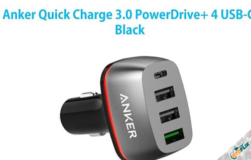 Anker Quick Charge 3.0 PowerDrive+ 4 USB-C