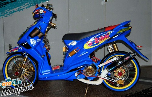 Modif Honda Beat Airbrush