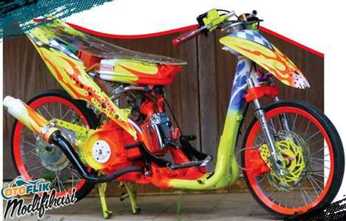 Modifikasi Honda Beat Drag Street Racing