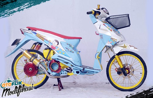 Modifikasi Motor Beat Airbrush