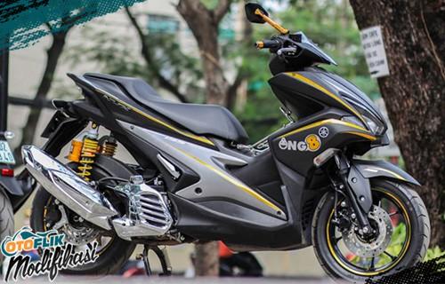 aerox 155 modif hitam