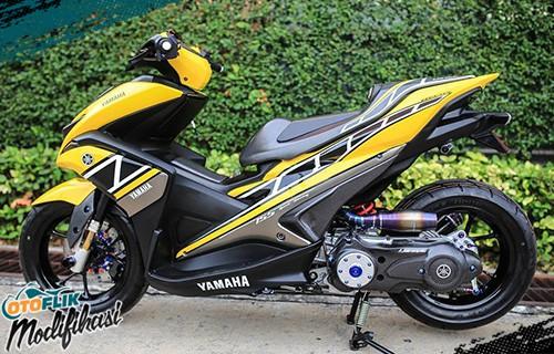 modifikasi yamaha aerox 155 kuning