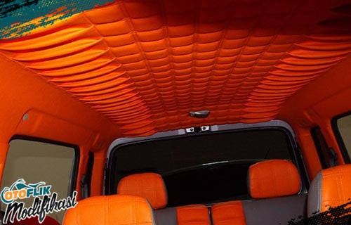 Modif Plafon Mobil Orange