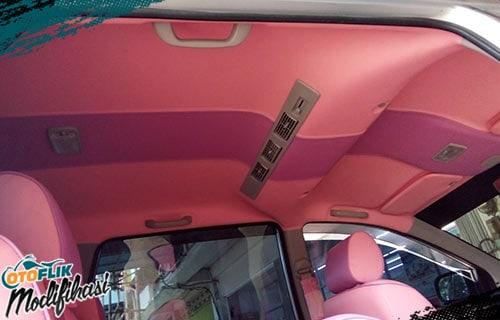 Modif Plafon Mobil Pink
