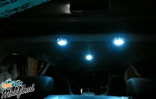 Modifikasi Plafon Lampu Mobil