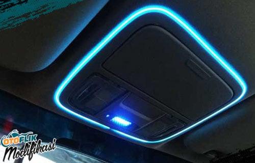 Modifikasi Plafon Mobil Ambient Light