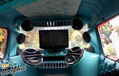 Modifikasi Plafon Mobil Angkot