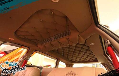 Modifikasi Plafon Mobil Coklat