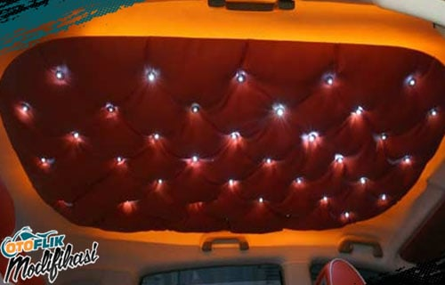 Modifikasi Plafon Mobil Lampu