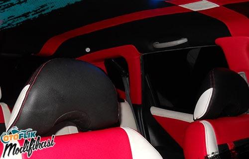Modifikasi Plafon Mobil Motif