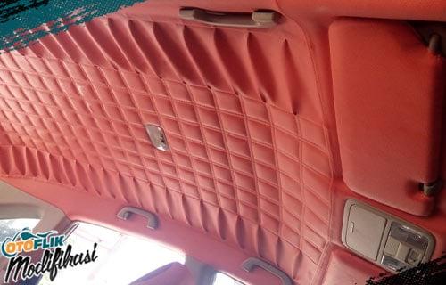Modifikasi Plafon Mobil Orange