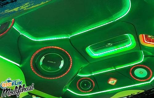 Modifikasi Plafon Mobil Techno