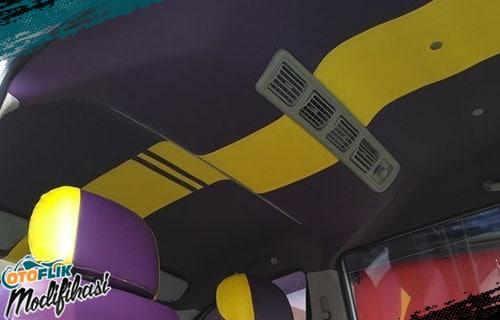 Modifikasi Plafon Mobil Warna