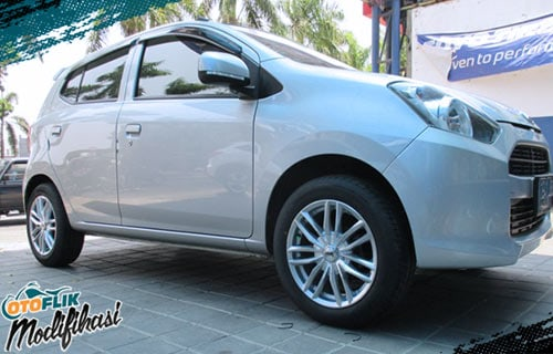 Modifikasi velg racing ayla ring 15