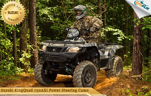 Suzuki KingQuad 750AXi Power Steering Camo