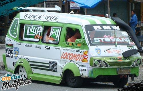 modifikasi suzuki carry minibus