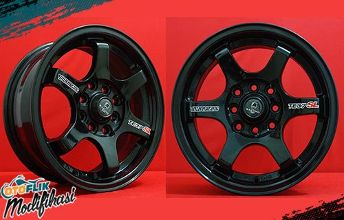 modifikasi velg racing daihatsu ayla ring 14