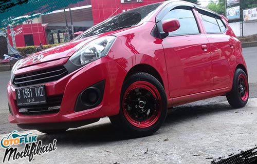 modifikasi velg racing daihatsu ayla ring 15