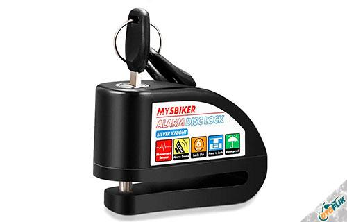 Alarm MotorMysBiker Alarm Disc Lock Silver Knight