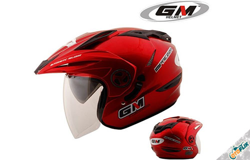 Helm Half Face GM New Imprezza Solid 2 Visor