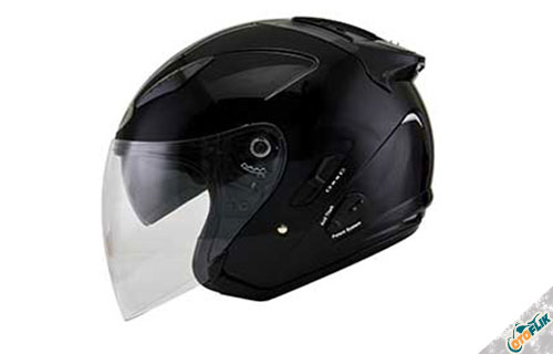 Helm Half Face KYT Hellcat Plain Black
