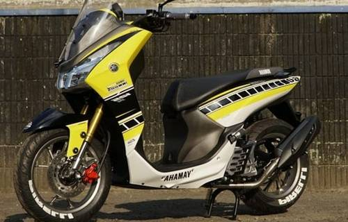 Modifikasi Motor Yamaha Lexi Adventure