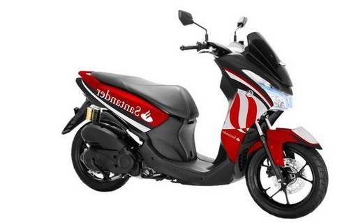 Modifikasi Motor Yamaha Lexi Merah