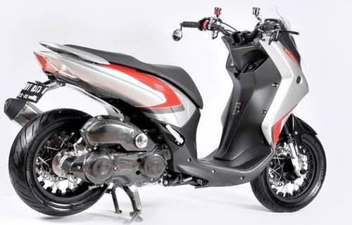 Modifikasi Yamaha Lexi Putih