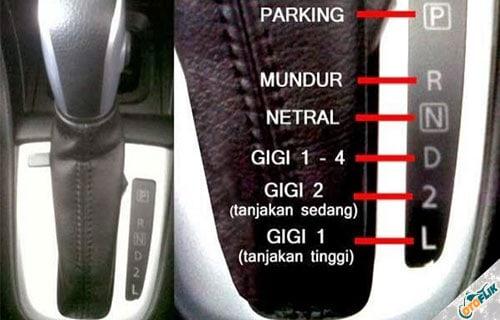 Fungsi dan arti Huruf pada Persneling Mobil Matic