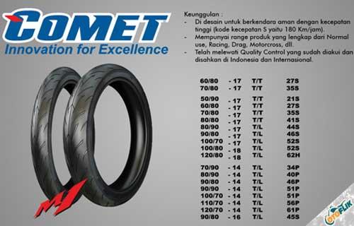 Harga Ban Motor Comet M1 Tube Type