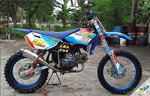 Modifikasi Motor Trail Bebek 1