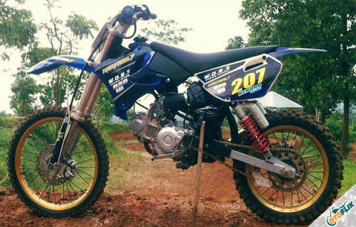 Modifikasi Motor Trail Bebek 8