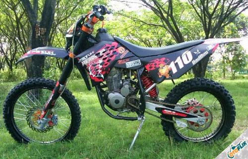 Modifikasi Motor Trail Honda Megapro 2