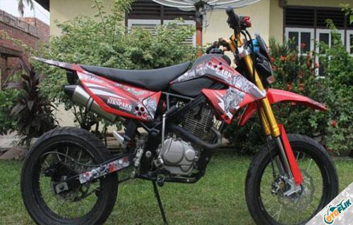 Modifikasi Motor Trail Honda Megapro 4