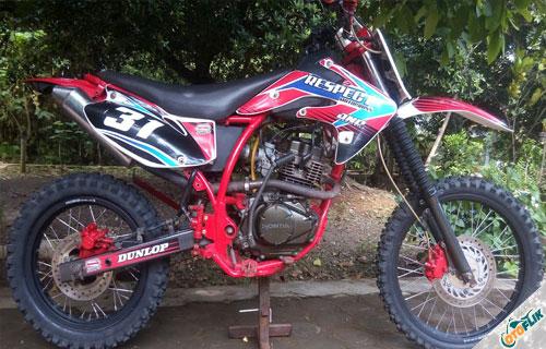 Modifikasi Motor Trail Honda Megapro 6