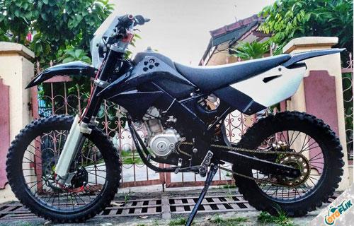 Modifikasi Motor Trail Yamaha Vixion 1