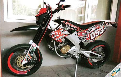 Modifikasi Motor Trail Yamaha Vixion 3