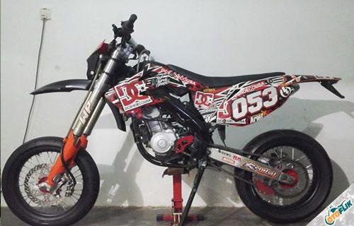 Modifikasi Motor Trail Yamaha Vixion 4