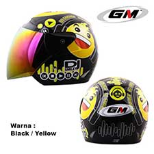 GM Evolution Emoticon #4 Black-Yellow