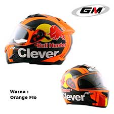 GM Race Pro 2 Visor Clever Orange Flo