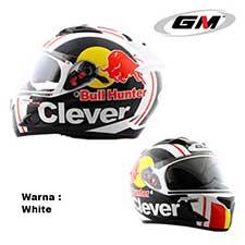 GM Race Pro 2 Visor Clever White