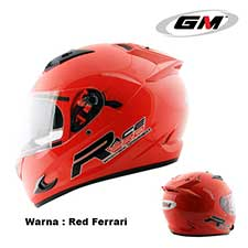 GM Race Pro 2 Visor Solid Red Ferrari