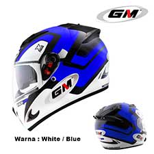 GM Race Pro 2 Visor X Race White-Blue