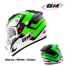 GM Race Pro 2 Visor X Race White-Green