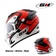 GM Race Pro 2 Visor X Race White-Red