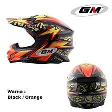 GM Supercross Flash Black-Orange