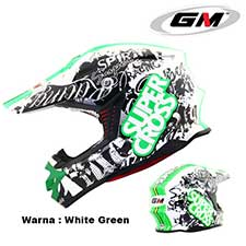 GM Supercross Racing Star White-Green