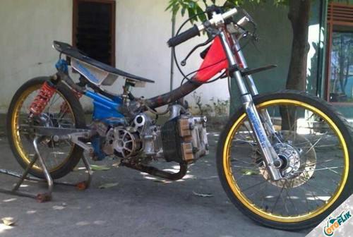Modifikasi Motor Astrea Legenda Drag 4