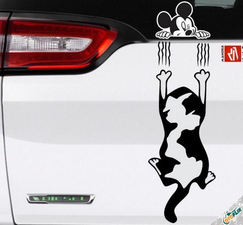 Modifikasi Stiker Kaca Mobil Lucu 01